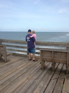 Looking out over the pier