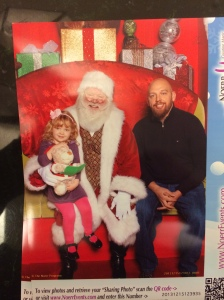 Picture with Santa (who is still kind of scary)